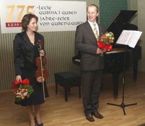 Rodzeństwo Pacewiczów podczas koncertu w Państwowej Szkole Muzycznej w Gubinie.Foto: Antoni Barabasz