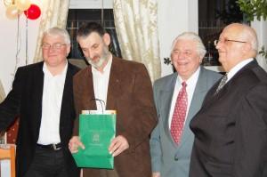 Stoją od lewej: Peter Andreas, Jerzy Zawadzki, Bodo Podlich i Stefan Pilaczyński