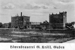 Browar Krölla przy dzisiejszej ul. Piwnej i poniżej browar Hermanna Haselbacha.